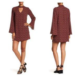 NWOT Bobeau Gigi Leopard Bell Sleeve Dress